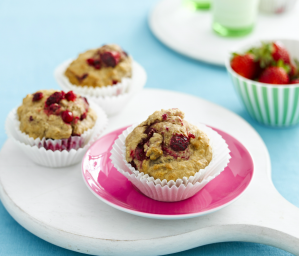 Apple Cinnamon and Berry Muffins