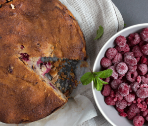Mixed Berry and Apple Cake