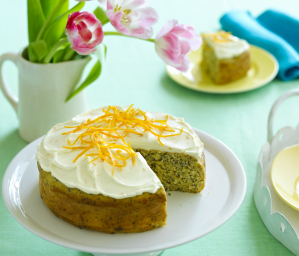 Orange and Poppyseed Cake with Cream Cheese Icing