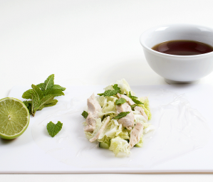 Poached Chicken and Cucumber Rice Paper Rolls