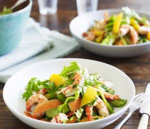 Prawn, Orange and Chilli Salad