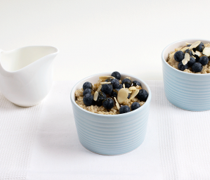 Quinoa Bircher with Almonds and Blueberries