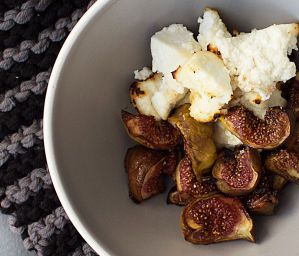 Sweet Figs with Baked Ricotta